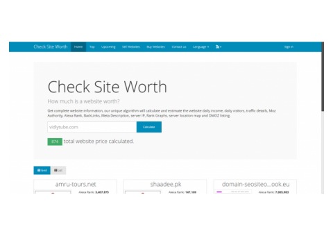 CheckSiteWorth